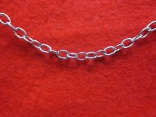 40 Inch Stainless Steel Silver 5Mm Link Rope Adjustable Waist Body Chain
