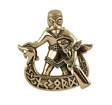 Bronze Njord Pendant - Dryad Design Norse/Viking Pagan Rune Talisman/Amulet