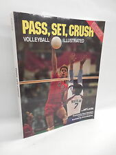 Pass, Set, Crush Illustrated Volleyball Instructional Guide Book Olympic Gold