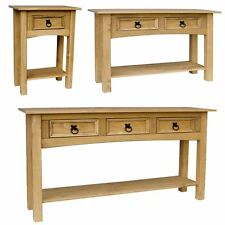 Corona 1 2 3 Drawer Console Table With Shelf Hallway End Pine By Home Discount