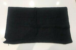 NWT William-Sonoma Home Heavy Black & Tan Belgian Linen 14 x 22 Pillow Cover