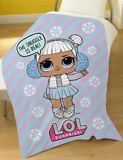 L.O.L Surprise Snow Angel Snowflake lol Girls Lilac Fleece Blanket Throw