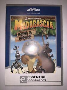 """Madagascar """" Paint & Create """" PC Game ( LIKE NEW ) - FREE & FAST POST"""