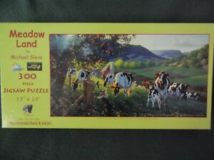 """Meadow Land"" by Michael Sieve 300 Extra Large Pieces- Excellent Condition"