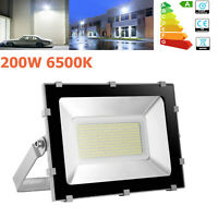 200W 6500K LED Flood Light SMD Outdoor Garden Landscape Lamp Spotlight 110V