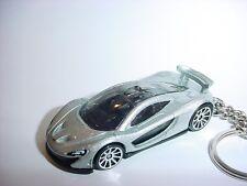 NEW 3D McLaren P1 CUSTOM KEYCHAIN keyring key top gear silver finish SPEED race!