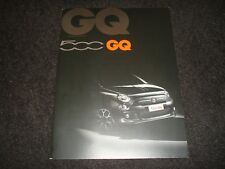 FIAT 500 GQ UK SALES BROCHURE JUNE 2013 NEW, OLD STOCK