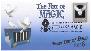 18-216, 2018, The Art of Magic, Pictorial Postmark, First Day Cover, Doves