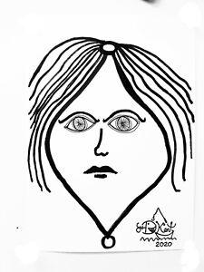 "Froody doodle original signed ink art work ""Luna"" (like Banksy Kaws Vexx)"