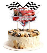 Décoration gâteau,cake topper cars anniversaire prénom et age