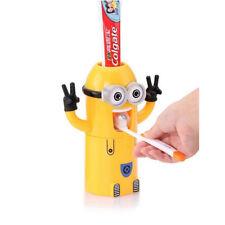 Cute Minion Toothpaste Dispenser Kids Toothbrush Holder Auto Toothpaste Squeezer