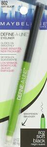 MAYBELLINE Define A Line Mechanical Eye Pencil 280mg 802 Soft Black - NEW Carded