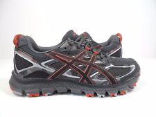 ASICS Men's Gel-Scram 3 Trail Runner Dark Grey/Black/Red Clay Size 9
