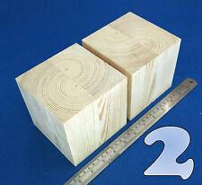 Lote X 2 Cubos 4.5 Pulgadas / ~ 115 Mm De Madera Bloques Bundle Juego De Madera De Pino Natural Eco Ladrillos