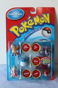 Hasbro Pokemon POKE-PACK BATTLE DISC FIGURE Fig SET MOC NEW 2000 Movie 2 MARILL