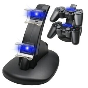 Dual Charger For PS3 Charging Dock Stand USB Cable For PlayStation 3