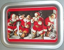 "COCA COLA COKE METAL TRAY ""75th ANNIVERSARY SANTA SUNDBLOM"" W/ tray magnet SIGN"