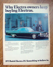 1972 Buick Electra 225 Ad Electra Owners Keep Buying Electras