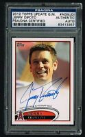 Jerry Dipoto 2012 Topps Update GM card signed autograph auto PSA/DNA Slabbed