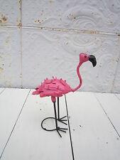 "16"" Metal Tin Pink Flamingo Lawn Decor Yard Ornament"