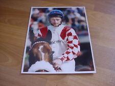 DEAN mckeown HORSE RACING FLAT Jockey 19/08/98 mano firmato STAMPA FOTO