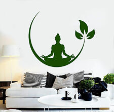 Vinyl Wall Decal Yoga Meditation Room Buddhist Zen Stickers (ig4132)