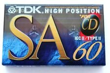 TDK SA 60 High Bias Type II Blank Audio Cassette - Japan 1994