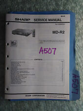 Sharp md-r2 service manual original repair book stereo mini disc player