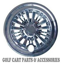 "(4) 8"" CHROME Golf Cart Hub Caps  - EZGO, CLUB CAR, YAMAHA Set of 4 Wheel Covers"