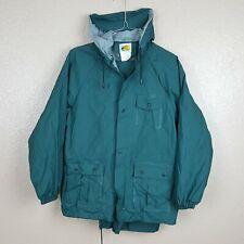 Bass Pro Shops Youth Rain Suit Jacket And Pants Size Large Green EUC
