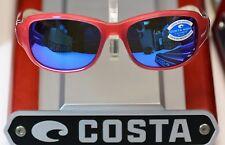 COSTA Del Mar LAS OLAS Coral frame w BLUE MIRROR 400 GLASS LENS LO 40 BMGLP