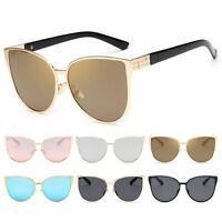 Women Cat Eye Sunglasses Vintage Shades Oversized Designer Glasses Eyewear Retro