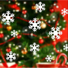 Christmas Art White Snow Snowflake Frozen Decal Window Wall Sticker Vinyl Decor