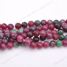 FREE SHIP Natural Gemstone FACETED Round Spacer Loose Beads 4MM 6MM 8MM 10MM
