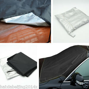 Car Prevent Windshield Cover Snow Ice Protector Sun Shield Storage Pouch Black