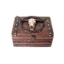Occidental Déco Boîte de conservation à bijoux en bois Crâne ca.22x22x30cm