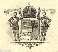EX-LIBRIS du comte de CROY-CHANEL. Dauphiné.