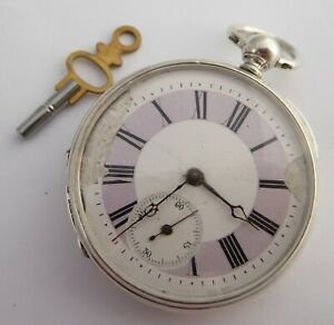 Late 1800s Antique Swiss Bautte Geneve Pocket Watch with Key Wound Movement