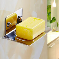 Stainless Steel Bathroom Bath Hand Soap Dish Storage Plate Hanger Holder Shelf