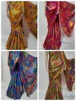 New Silk Designer Saree Indian Bollywood Wedding party Wear Sari Blouse Fancy KF