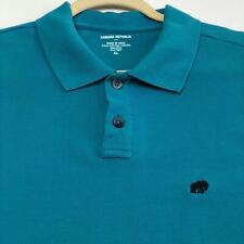 Banana Republic Factory Men's Polo Pullover Shirt XL Extra Large Blue Elephant