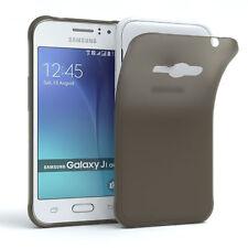 Schutz Hülle für Samsung Galaxy J1 Ace Cover Handy Case Matt Schwarz
