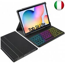 IVSO Custodia con Tastiera Italiana per Samsung Galaxy Tab S6 Lite, Slim