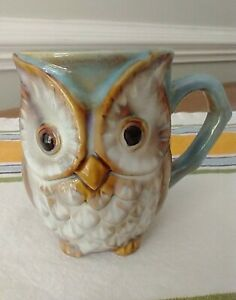 OWL SHAPED Coffee & Tea Cup Mug Country Farmhouse Cabin Bird Decor EUC & CUTE!
