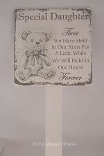 Daughter Memorial Grave Decor Baby Premature Child Teddy Held In Our Arms F1627A