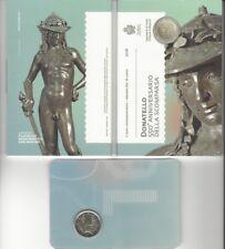 2 Euro Gedenkmünze 2016 aus San Marino, 550. Todestag von Donatello, Klappfolder