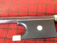 Vintage violin bow   50 g 29 inch long  signed  l wenzel