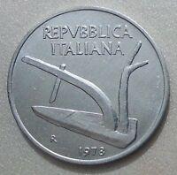 MONETE REPUBBLICA ITALIANA 10 LIRE SPIGA 1978