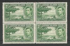 CAYMAN ISLANDS SG124 THE 1938 GVI 2/- YELLOW GREEN SUPERB MNH BL.OF 4 C.£220+