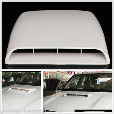 Universal Decorative Air Flow Intake Scoop Turbo Bonnet Vent Cover Hood WHITER